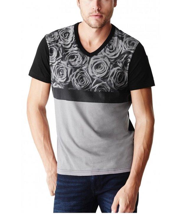 Guess pánské tričko Napols blk/grey