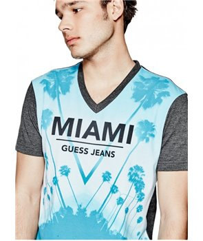 Guess pánské tričko Declan solid bílé