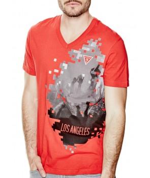 Guess pánské tričko Benci červené