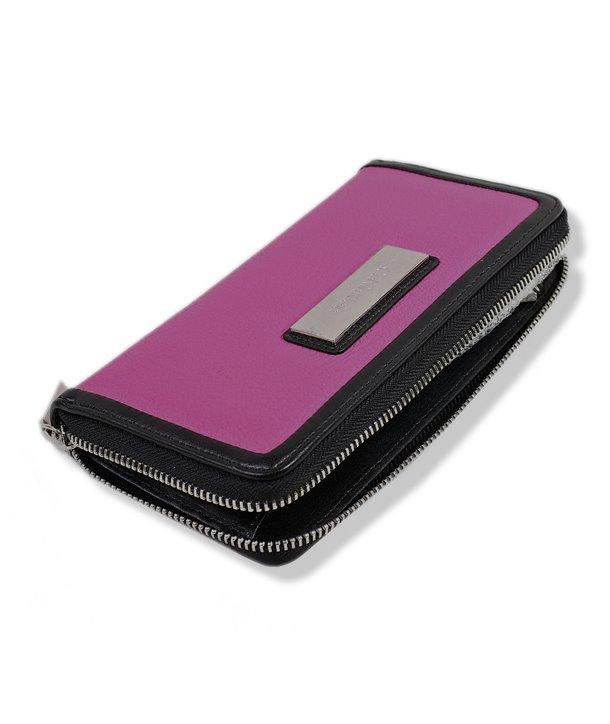 Calvin Klein dámská peněženka Valerie Zip Continental pink/blk