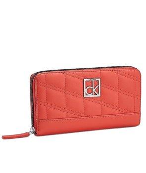Calvin Klein dámská peněženka Kora Zip Continental oranžová