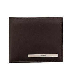 Calvin Klein pánská kožená peněženka Bifold hnědá