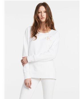 Calvin Klein dámská mikina Logo Sweatshirt bílá