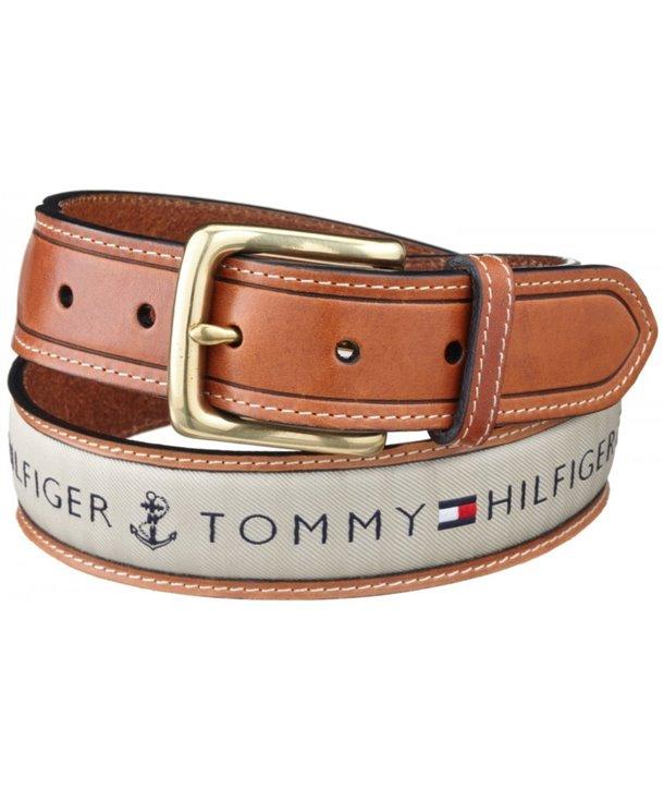 Tommy Hilfiger kožený pásek Ribbon Inlay wht