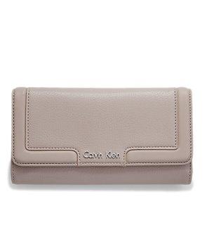 Calvin Klein dámská peněženka Trifold Mega Continental béžová