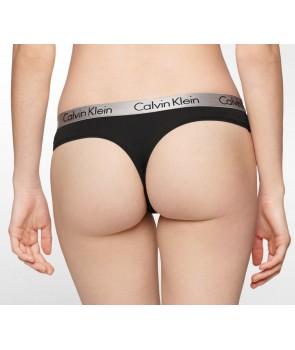 Calvin Klein kalhotky Tanga černé