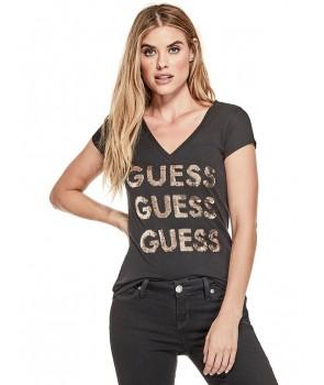 Guess dámské tričko Liza Threaded bílé