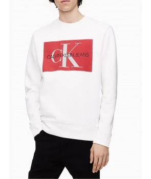 Calvin Klein pánské mikina s kapucí hoodie 4103 bílá