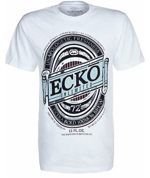 Ecko Unltd pánské tričko FRESH LABEL TEE bílé