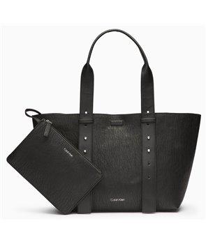 Calvin Klein velká kabelka Jacquard Jane černá